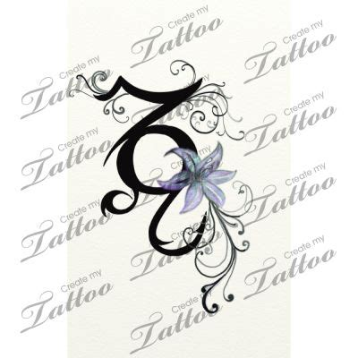 tattoo letters entwined capricorn and leo signs entwined together custom tattoo