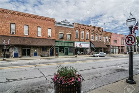 small towns in america 29814534 a photo of a typical small town main street in