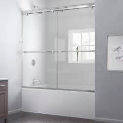 home depot tub shower doors dreamline charisma 60 in x 58 in frameless bypass tub