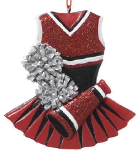 red cheerleading outfit christmas ornament ebay