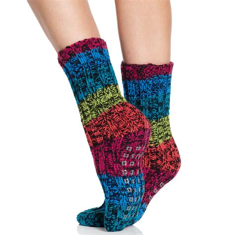 hue slippers hue socks multicolor slipper socks in multicolor bright