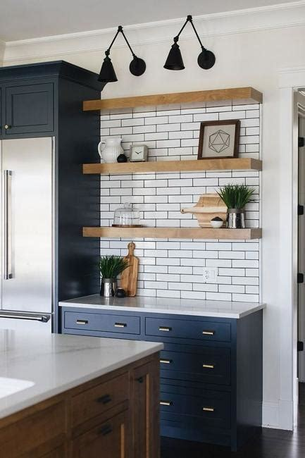 beautiful wooden shelves  modern kitchens simplified