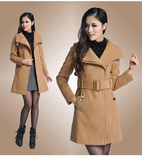 Jaket Import Murah Pakaian L2 baju musim dingin lighttan woolen coat jyb331172lighttan coat korea