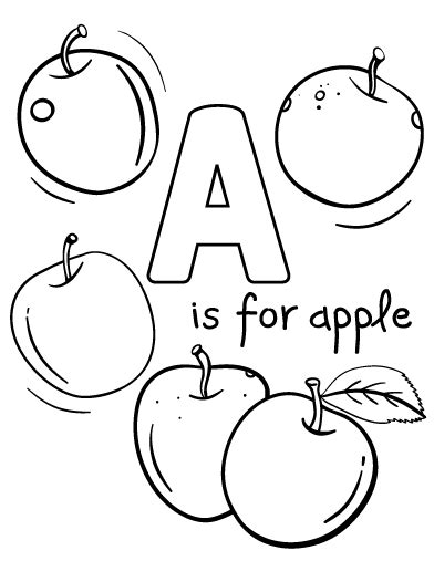 blank apple coloring page printable a is for apple coloring page free pdf download