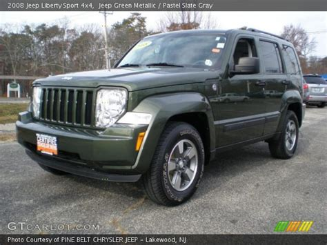 green jeep liberty 2008 jeep green metallic 2008 jeep liberty sport 4x4 pastel