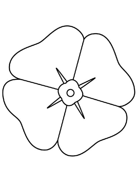 printable poppy flowers poppy flower coloring pages download and print poppy