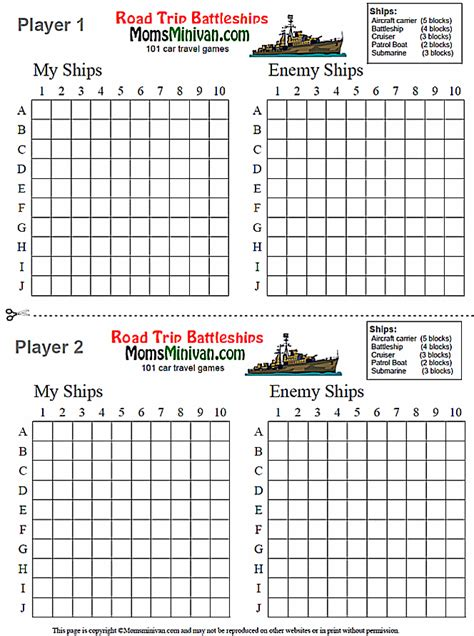 battleship board template battleships printable