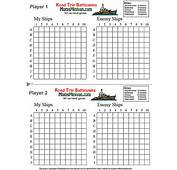 Battleships Printable Car Game  Page 2 Extra Battle Pages