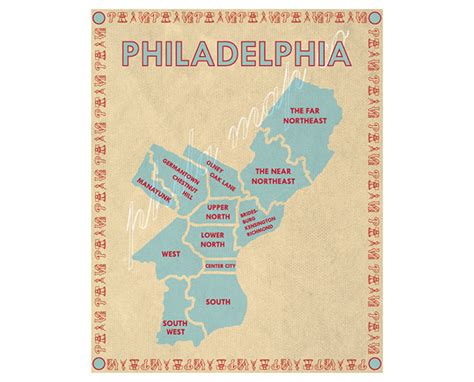 map of philadelphia 8 philadelphia centric and philadelphia made etsy picks
