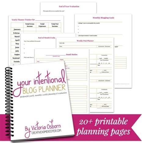 free 2016 blog planner printable free printable intentional blog planner money saving mom 174
