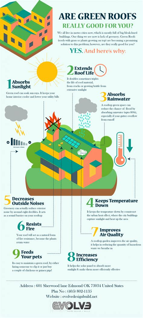 living green roof advantages 9 benefits of installing a green roof infographic