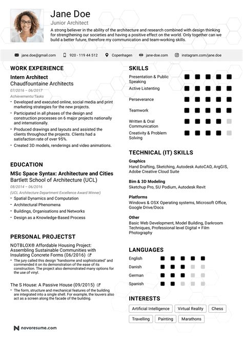 Resume D by Architecture Resume Images Cv Letter And Format