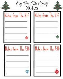 free printable on the shelf notes