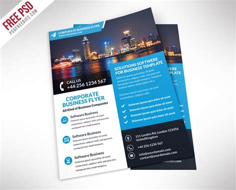 Free Flyer Templates Psd From 2016 187 Css Author Template For A Flyer