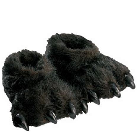 furry house shoes furry black animal slippers alpha mom