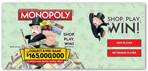 Safeway Monopoly Sweepstakes - safeway monopoly game shop play win complete pdf library