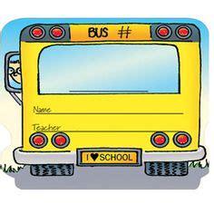printable bus tags kindergarten school bus ideas rules on pinterest buses positive
