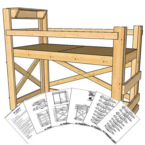 twin extra long size loft bed plans medium height op