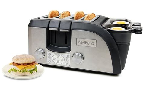 Egg And Muffin Toaster West Bend Breakfast Station Egg And Muffin Toaster Oven