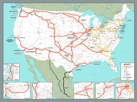 railway system map of mexico ship with bnsf maps shipping locations rail network