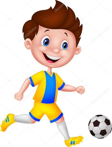 hombre de dibujos animados jugar futbol vector de stock ni 241 o de dibujos animados jugando al f 250 tbol vector de