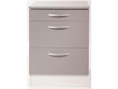 meuble cuisine 60 cm meuble bas 60 cm 1 tiroir 2 caissons spoon color coloris gris vente de meuble bas conforama