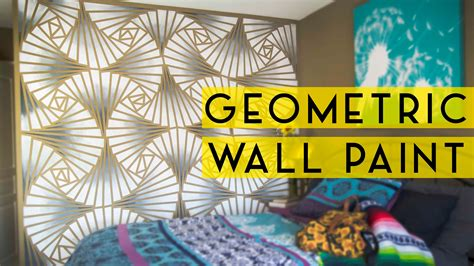 how to do wall painting designs yourself diy geometric wall paint youtube