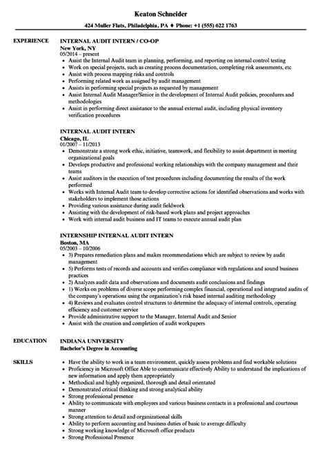 accounting intern resume exles audit intern resume sles
