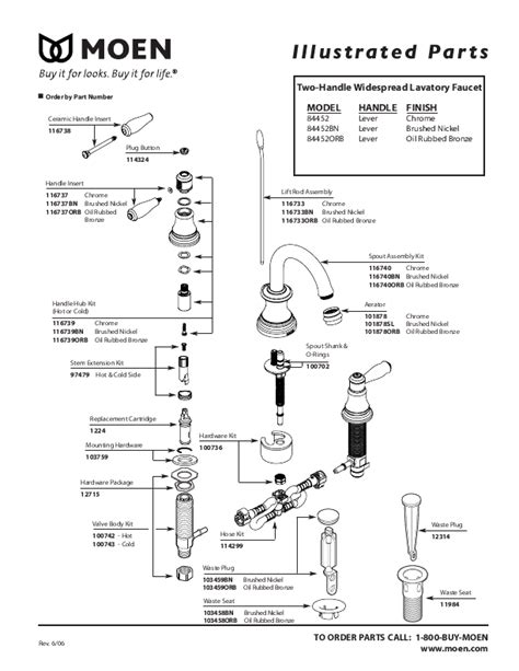 Moen Bathroom Sink Faucet Parts Diagram Moen Faucet Parts Diagram Images