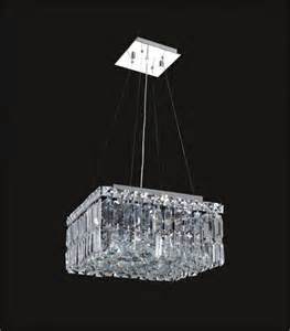 Hanging Bulbs Chandelier 12 Quot Cascade Square Hanging Chandelier Crystal Light