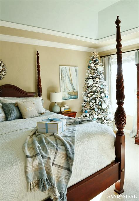 coastal xmas decor home tours classic coastal bedroom sand and sisal