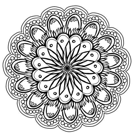 ilustrasi gratis bunga bunga mandala tangan gambar