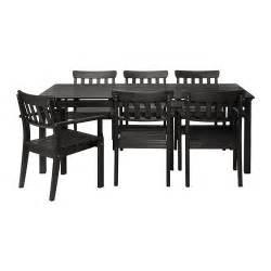 patio furniture sets ikea 196 ngs 214 table 6 armchairs outdoor black brown stained ikea
