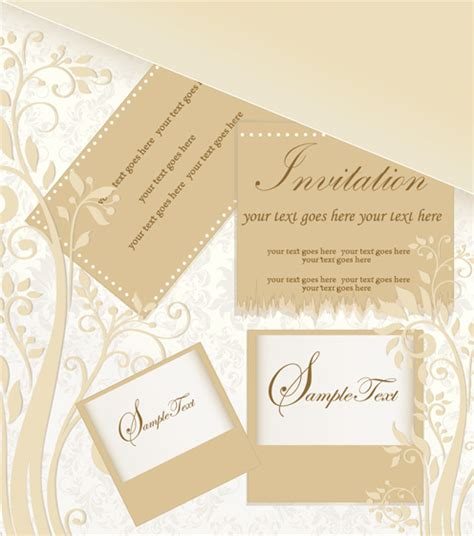 invitation card design ai file floral elegant invitation cards vector set free vector in