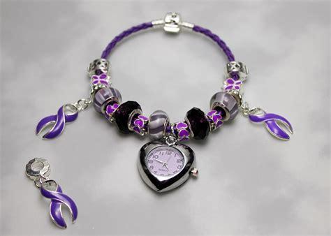 lupus awareness pandora bracelet with and ribbons for