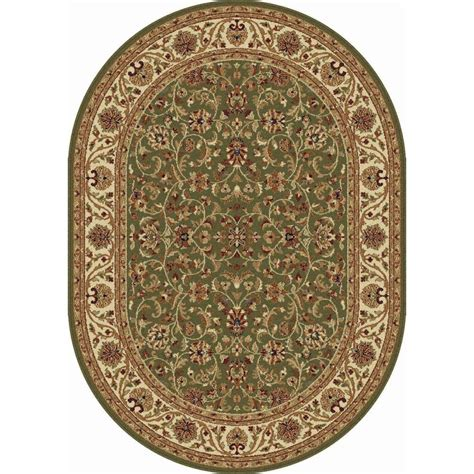 7 X 9 Oval Area Rugs by Tayse Rugs Sensation Green 6 Ft 7 In X 9 Ft 6 In Oval
