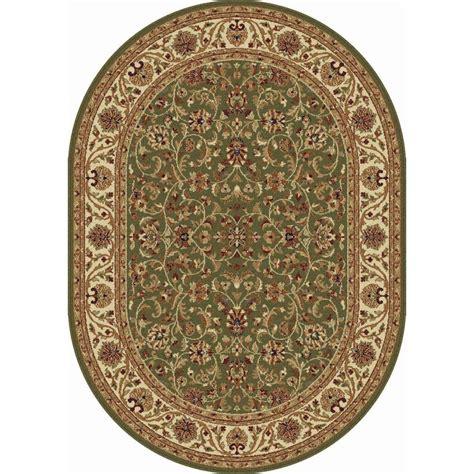 tayse rugs sensation green 6 ft 7 in x 9 ft 6 in tayse rugs sensation green 6 ft 7 in x 9 ft 6 in oval
