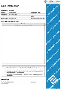 site templates project management document templates civil engineering