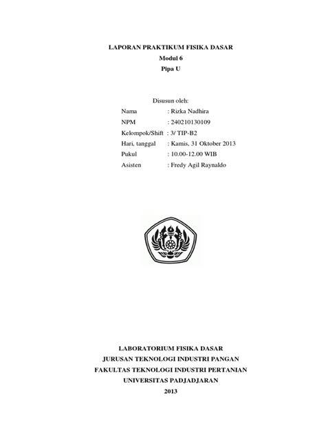 cara membuat laporan praktikum fisika dasar 1 laporan praktikum fisika dasar pipa u