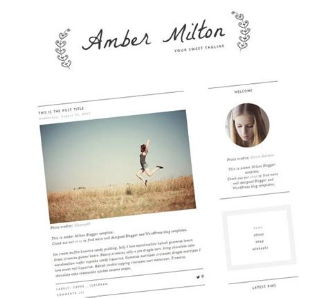 templates blogger simple clean blogger template premade blog template
