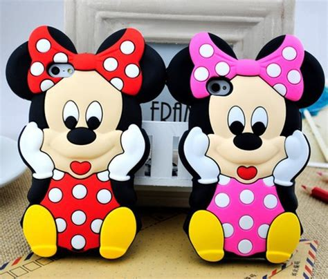 Softcase List Mickey Minnie Mouse Soft Cover Casing Iphone 4 4s free shipping 3d minnie mickey mouse with bow silicone soft back cover for