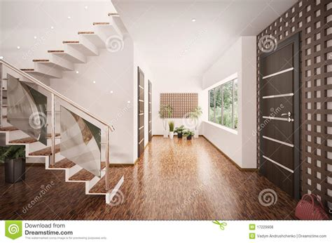 interior photo interior of modern entrance hall 3d render stock