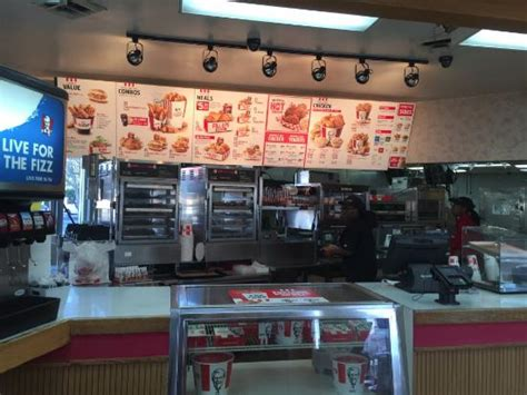 menu and order area picture of kentucky fried chicken