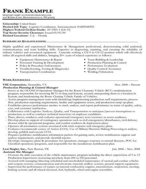 resume exle for government usa resume builder resume builder