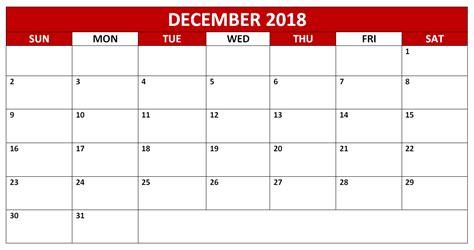 december printable editable calendar december 2018 calendar free printable editable file download
