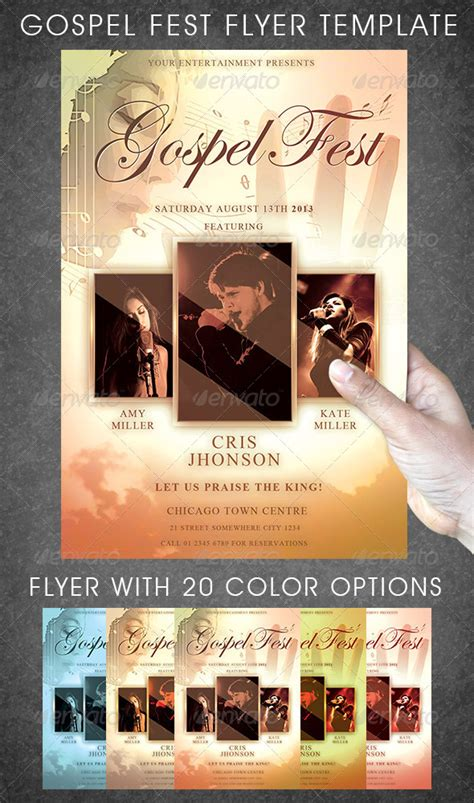 gospel flyer template gospel flyer template by rommydc graphicriver