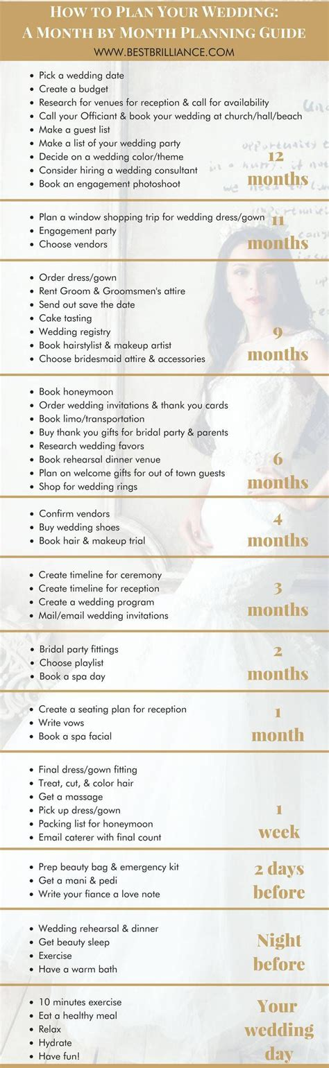 every bride needs a 1 month bridal checklist heres yours wedmegood