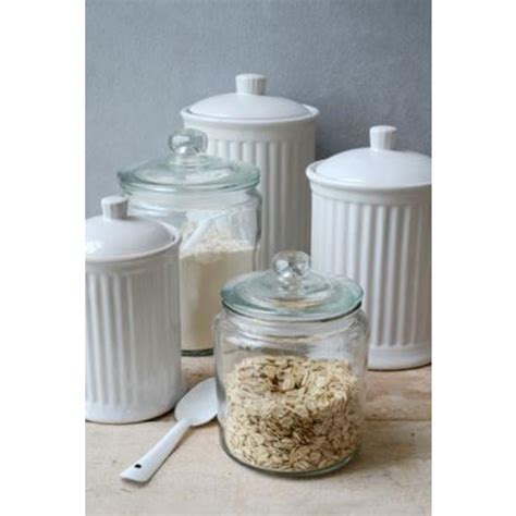 Kitchen Decorative Jars Decorative Glass Jar With Lid For Cookie Sweet Kitchen