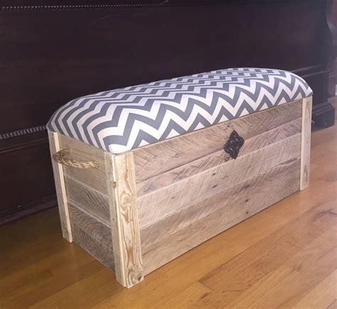 Cushioned Bench Making Diy Toy Box Can Be As Simple As This Here S How