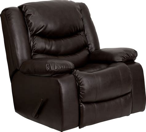 ceiling fan rocking back and forth flash furniture plush brown leather lever rocker recliner